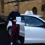 Josh Farrant from Sherborne passed his test first time after changing to Jenny's Driving School half way through his learning.