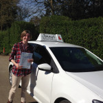Sophie Atkinson passed her test first time, learning during her holidays when back from university.